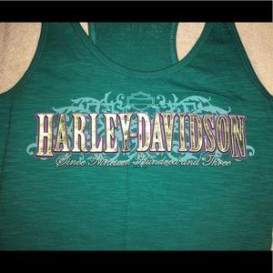 Harley-Davidson Tops - Green Harley-davidson tank top